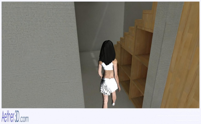 Aether3D Screen Shot: Exploring building internally